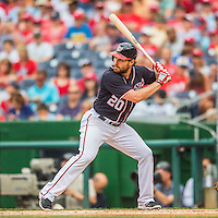 29 May 2016: Washington Nationals second baseman Daniel Murphy in action against the St. Louis Cardinals at Nationals Park in Washington, DC. The Nationals defeated the Cardinals 10-2 to split their 4-game series. Mandatory Credit: Ed Wolfstein Photo *** RAW (NEF) Image File Available ***