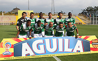 BOGOTA -COLOMBIA, 21-02-2017. Team of Deportivo Cali.Action game between  Tigres FC  and Deportivo Cali during match for the date 5 of the Aguila League I 2017 played at Metropolitano de Techo stadium . Photo:VizzorImage / Felipe Caicedo  / Staff