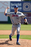 April 11th 2010: Christoper Huseby of the Daytona Cubs, the Florida State League High-A affiliate of the Chicago Cubs. In a game against the of the  Brevard County Manatees, the Florida State League High-A affiliate of the Milwaukee Brewers at Space Coast Stadium in Viera, FL (Photo By Scott Jontes/Four Seam Images)