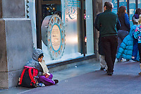 Various images of the city of Chicago Homeless people as seen on the streets of Chicago, Illinois.