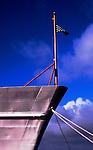 Bow of Coast Guard Cutter on display in Astoria, Oregon