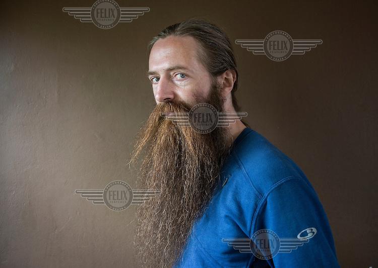 Geneticist Aubrey De Grey, Cambridge.
