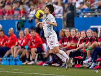 FRISCO, TX - MARCH 11: Mayo Doko #22 of Japan controls the ball during a game between Japan and USWNT at Toyota Stadium on March 11, 2020 in Frisco, Texas.