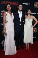 """HOLLYWOOD, LOS ANGELES, CA, USA - MARCH 20: Rosario Dawson, Diego Luna, America Ferrera at the Los Angeles Premiere Of Pantelion Films And Participant Media's """"Cesar Chavez"""" held at TCL Chinese Theatre on March 20, 2014 in Hollywood, Los Angeles, California, United States. (Photo by David Acosta/Celebrity Monitor)"""