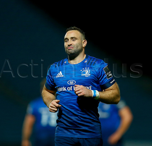 16th November 2020; RDS Arena, Dublin, Leinster, Ireland; Guinness Pro 14 Rugby, Leinster versus Edinburgh; Dave Kearney of Leinster get set for play to rsume