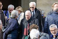 PARIS , EGLISE SAINT PIERRE DU GROS CAILLOU LE 14 / 03 / 2017<br /> OBSEQUES DE PIERRE BOUTEILLER .<br /> HERVE BOURGE ET PHILIPPE LABRO