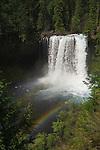 Koosah Falls with double rainbow, McKenzie River, Willamette National Forest, Cascade Mountains, Oregon.