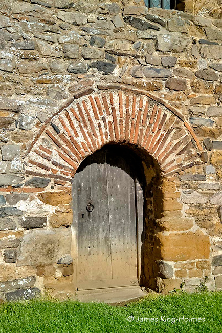 Exterior detail of All Saint's Church, Brixworth, Northamptonshire, built in the 7th Century