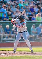 20 August 2017: Connecticut Tigers infielder Hector Martinez in action against the Vermont Lake Monsters at Centennial Field in Burlington, Vermont. The Lake Monsters rallied to edge out the Tigers 6-5 in 13 innings of NY Penn League action.  Mandatory Credit: Ed Wolfstein Photo *** RAW (NEF) Image File Available ***