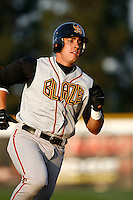 May 26 2007: Taylor Teagarden of the Bakersfield Blaze runs the bases against the Rancho Cucamonga Quakes at The Epicenter in Rancho Cucamonga,CA.  Photo by Larry Goren/Four Seam Images