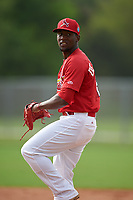 St. Louis Cardinals pitcher Steven De La Cruz (12) during practice before a Minor League Spring Training game against the New York Mets on March 31, 2016 at Roger Dean Sports Complex in Jupiter, Florida.  (Mike Janes/Four Seam Images)