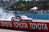 NASCAR XFINITY Series<br /> Zippo 200 at The Glen<br /> Watkins Glen International, Watkins Glen, NY USA<br /> Saturday 5 August 2017<br /> Kyle Busch, NOS Rowdy Toyota Camry celebrates his win with a burnout <br /> World Copyright: Russell LaBounty<br /> LAT Images