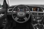 Car pictures of steering wheel view of a 2015-2016 Audi A4 Premium 4 Door Sedan