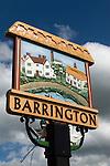 Barrington Village sign Cambridgeshire Uk.