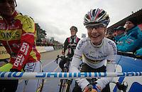 Marianne Vos (NLD) at the startline<br /> <br /> UCI Worldcup Heusden-Zolder Limburg 2013