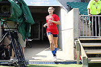 CARY, NC - SEPTEMBER 12: Kaleigh Kurtz #3 of the North Carolina Courage takes the field before a game between Portland Thorns FC and North Carolina Courage at Sahlen's Stadium at WakeMed Soccer Park on September 12, 2021 in Cary, North Carolina.