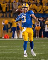 Pitt quarterback Ben DiNucci. The North Carolina Tarheels defeated the Pitt Panthers football team 34-31 at Heinz Field, Pittsburgh, Pennsylvania on November 9, 2017.