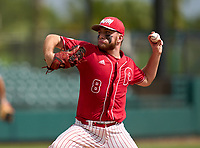 Monsignor Pace Spartans pitcher Luke Rier (8) during the 42nd Annual FACA All-Star Baseball Classic on June 6, 2021 at Joker Marchant Stadium in Lakeland, Florida.  (Mike Janes/Four Seam Images)