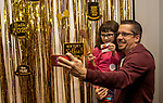 TORRINGTON, CT - 31 DECEMBER 2019 - 123119JW01.jpg --  Cadence Fletcher age 5 takes a selfie with her dad Chris Fletcher during the New Years Eve celebration at KidsPlay Children's Museum Tuesday morning. Jonathan Wilcox Republican-American