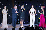 (Second from left to the right) Mark O'Meara, Suzann Pettersen and Paula Creamer during the Opening Ceremony of the the World Celebrity Pro-Am 2016 Mission Hills China Golf Tournament on 20 October 2016, in Haikou, China. Photo by Marcio Machado / Power Sport Images