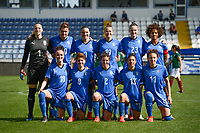20190227 - LARNACA , CYPRUS : Cristiana Girelli (10) , Barbara Bonansea (18) , Emanuela Giugliano (8) , Ilaria Mauro (11) , Valentina Bergamaschi (2) , Elisa Bartoli (13) , Alia Guagni (7) , Aurora Galli (19) , Cecilia Salvai (23) , Laura Giuliani (1) , Sara Gama (3)  -  Italian team pictured during a women's soccer game between Mexico and Italy , on Wednesday 27 February 2019 at the Antonis Papadopoulos Stadium in Larnaca , Cyprus . This is the first game in group B for both teams during the Cyprus Womens Cup 2019 , a prestigious women soccer tournament as a preparation on the FIFA Women's World Cup 2019 in France and the Uefa Women's Euro 2021 qualification duels. PHOTO SPORTPIX.BE | STIJN AUDOOREN
