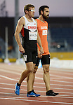 Dustin Walsh and Dylan Williamson, Toronto 2015 - Para Athletics // Para-athlétisme.<br /> Dustin Walsh and his guide Dylan Williamson compete in the Men's 400m T11 Final // Dustin Walsh et son guide Dylan Williamson participent à la finale du 400 m T11 masculin. 11/08/2015.