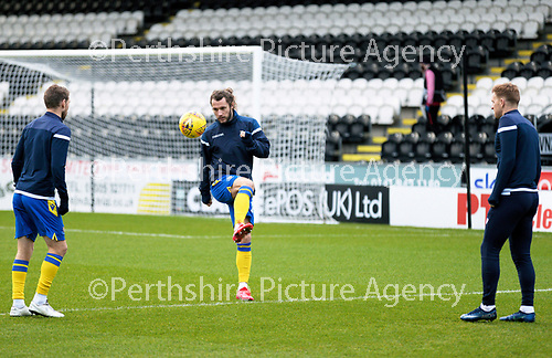 St Mirren v St Johnstone…19.12.20   St Mirren Park      SPFL<br />Stevie May pictured during the warm-up session with David Wotherspoon and Liam Craig<br />Picture by Graeme Hart.<br />Copyright Perthshire Picture Agency<br />Tel: 01738 623350  Mobile: 07990 594431