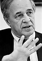 Pierre Boulez, French Composer and Conductor  at The Edinburgh International Festival in 1994. CREDIT Geraint Lewis