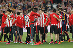 Athletic de Bilbao´s players after losing the 2014-15 Copa del Rey final match between Barcelona and Athletic de Bilbao at Camp Nou stadium in Barcelona, Spain. May 30, 2015. (ALTERPHOTOS/Victor Blanco)