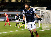 19th December 2020; Dens Park, Dundee, Scotland; Scottish Championship Football, Dundee FC versus Dunfermline; Osman Sow of Dundee celebrates after scoring for 2-0 in the 51st minute
