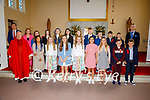 Pupils from St Finians NS Waterville who made their Confirmation on Saturday pictured here with Fr Gerard Finucane and back l-r; Anthony Monaghan & David O'Leary(Principal).
