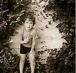 Vintage black and white print scan. File #77-186. Tolston Wild. Age 5.