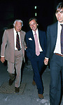 GIANNI AGNELLI CON LUCA CORDERO DI MONTEZEMOLO E GIOVANNI MALAGO'<br /> CONCERTO FRANK SINATRA - PALEUR ROMA 1987