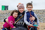 Sitting and enjoying the beach in Banna on Saturday, l to r: Anna, Brieín and Colm Kearney.