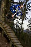 Freeride Track , Glentress .Scotland  April 2007.pic copyright Steve Behr / Stockfile