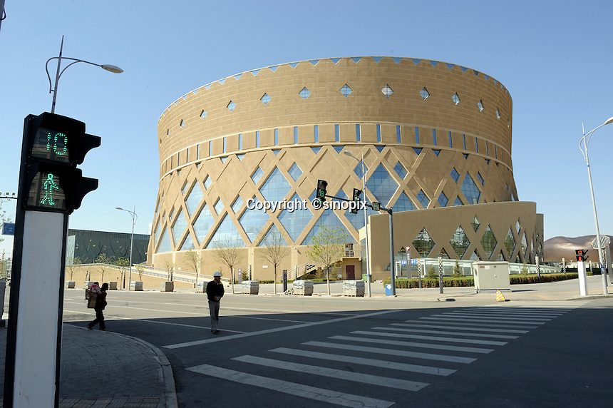 New opera house in Kangbashi district of the Chinese city of Ordos, Inner Mongolia. 12-May-2011