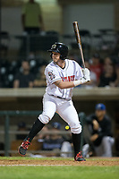 Jake Turnbull (36) of the Billings Mustangs pinch-hits in the bottom of the ninth inning during the game against the Missoula Osprey at Dehler Park on August 21, 2017 in Billings, Montana.  The Osprey defeated the Mustangs 10-4.  (Brian Westerholt/Four Seam Images)