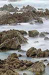 Long exposure taken one hour after sunset of the coastal landscape, Big Sur, California, USA