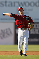 May 2, 2010: Brandon Wikoff of the Lancaster JetHawks during game against the Lake Elsinore Storm at Clear Channel Stadium in Lancaster,CA.  Photo by Larry Goren/Four Seam Images
