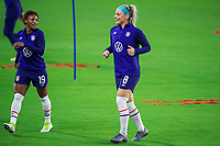 ORLANDO, FL - JANUARY 18: Julie Ertz #8 of the USWNT running before a game between Colombia and USWNT at Exploria Stadium on January 18, 2021 in Orlando, Florida.