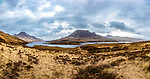 A view of Sgorr Tuath, with Loch Lurgainn in the foreground, and Cul Beag to the left.<br /> <br /> Image by: Malcolm McCurrach<br /> Wed, 5, April, 2017    © Malcolm McCurrach 2017    New Wave Images UK   Insertion and use fees apply    All rights Reserved. picturedesk@nwimages.co.uk   www.nwimages.co.uk   07743 719366