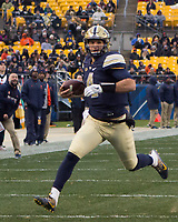Pitt quarterback Nathan Peterman. The Pitt Panthers defeated the Syracuse Orange 76-61 at Heinz Field in Pittsburgh, Pennsylvania on November 26, 2016.