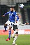 28.10.20 - Derby County v Cardiff City - Sky Bet Championship - Leandra Bacuna of Cardiff and Kamil Jozwiak of Derby