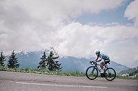 Polka Dot Jersey / KOM leader Dario Cataldo (ITA/Astana)<br /> <br /> Stage 6: Frontenex > La Rosière Espace San Bernardo (110km)<br /> 70th Critérium du Dauphiné 2018 (2.UWT)