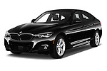 2018 BMW 3 Series 330i GT M Sport 5 Door Hatchback angular front stock photos of front three quarter view
