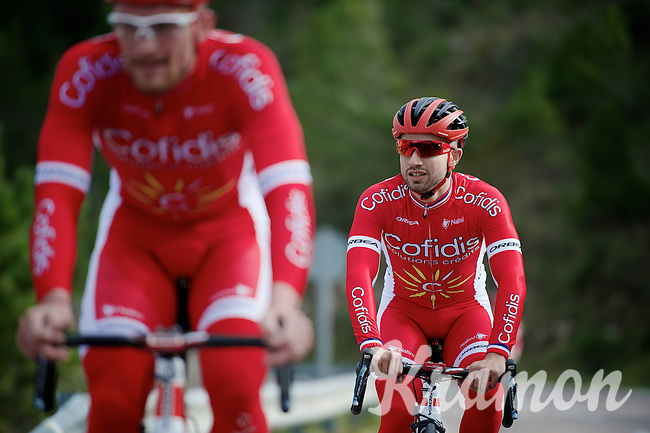 Nacer Bouhanni (FRA/Cofidis) during the 2015 Cofidis training camp in Alicante, Spain