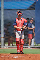 GCL Twins catcher Austin Hale (70) during a game against the GCL Rays on August 9, 2018 at Charlotte Sports Park in Port Charlotte, Florida.  GCL Twins defeated GCL Rays 5-2.  (Mike Janes/Four Seam Images)