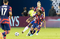 KANSAS CITY, KS - JULY 11: Gianluca Busio #6 of the United States during a game between Haiti and USMNT at Children's Mercy Park on July 11, 2021 in Kansas City, Kansas.