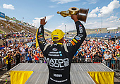 NHRA Mello Yello Drag Racing Series<br /> Mopar Mile-High NHRA Nationals<br /> Bandimere Speedway, Morrison, CO USA<br /> Sunday 23 July 2017 Antron Brown, Matco Tools, top fuel dragster, victory, celebration, trophy<br /> <br /> World Copyright: Mark Rebilas<br /> Rebilas Photo