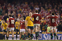 MELBOURNE, 29 JUNE 2013 - Players shake hands after the Second Test match between the Australian Wallabies and the British & Irish Lions at Etihad Stadium on 29 June 2013 in Melbourne, Australia. (Photo Sydney Low / sydlow.com)